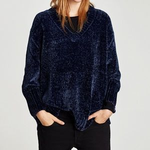 Zara chenille oversized sweater